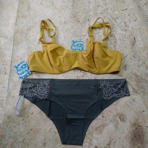 Free People Zoey Bra (34D) & Smooth Lace Bikini